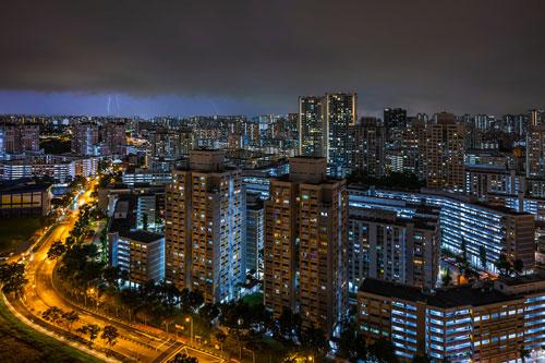 Lightning Strike in Singapore